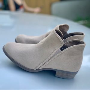 Women's Time and Tru Bootie Sand Color Ankle Boot